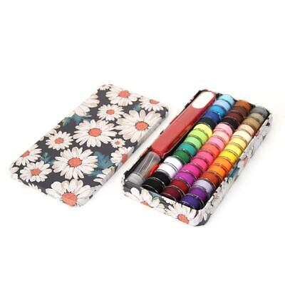 42 Color Handmade Sewing Thread+Needle+Scissors+Needle Threader Sewing Kit NEW