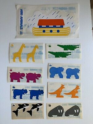Lot Of 9 Vintage Cardesign Toots  Noah' Ark- With 8 Animals Dated 1983