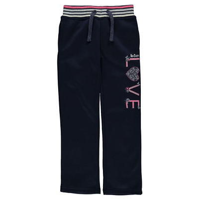 Girls blue jogger bottoms jogging tracksuit in age  9 10 11 12 13 Lee Cooper