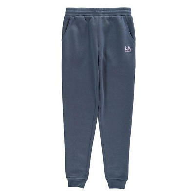Girls blue jogger bottoms jogging tracksuit in age  9 10 11 12 13 LA Gear