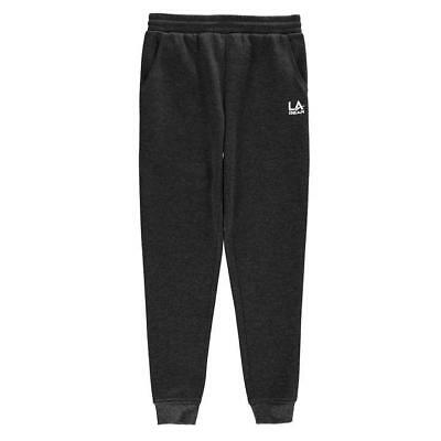 Girls dark grey jogger bottoms jogging tracksuit in age  9 10 11 12 13 LA Gear