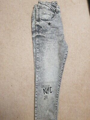 Light Grey 11-12 Years SKINNY Boys Jeans New Never Used