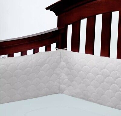 Lifenest Breathable and Padded Mesh Cream Crib Liner
