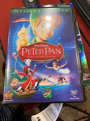 Peter Pan (DVD, 2007, 2-Disc Set, Platinum Edition) COMPLETE W/BOOKLET