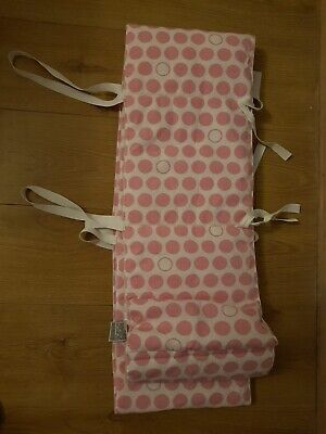 Stokke Sleepi Cot Bumper Pad 100% Cotton White And Pink Dots