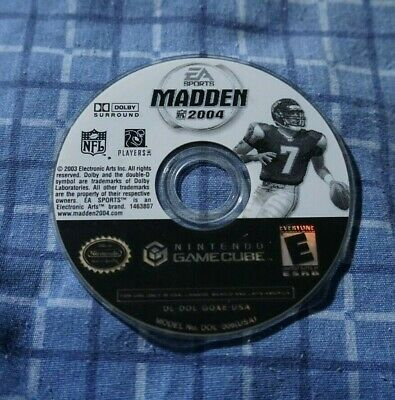 Madden NFL 2004 Nintendo Gamecube DISK ONLY NTSC DISC
