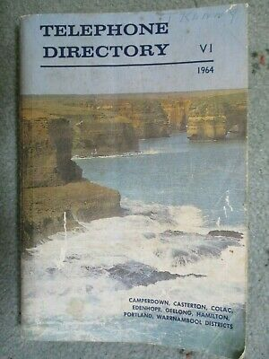 1964 Telephone Directory Geelong Camperdown Colac Hamilton Portland + Districts