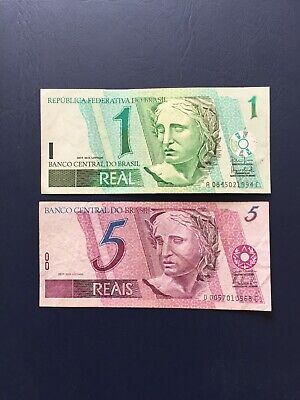 Various Low Denomination Brazilian Bank Notes.Ideal For An Avid Note Collector.