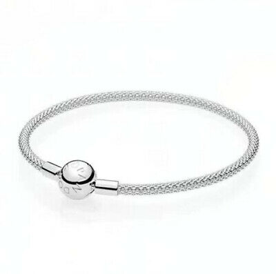 925 Silver Chain Bracelets Bangle Fit sterling European Beads Charm 6.5cm
