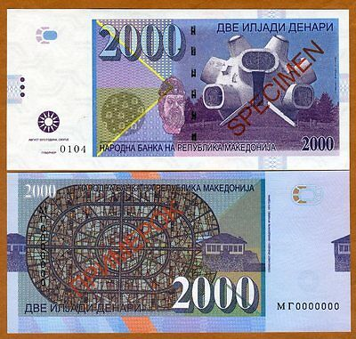 Macedonia, 2000 Denari 2013 Private Issue Specimen for official competition, UNC
