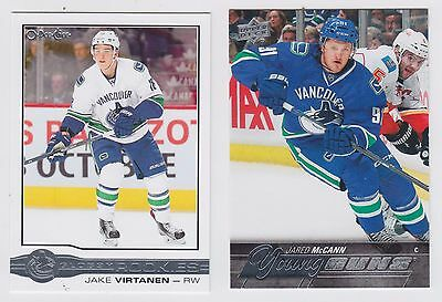 2015-16 UD Yng.Guns Jared Mcann #219 O-PEE-CHEE Jake Virtanen #R-5 . Both Cards