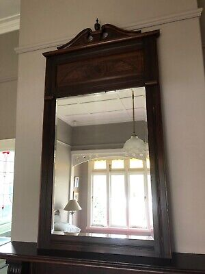 Antique Mirror Mahogany, with stunning carved detail and bevelled edges