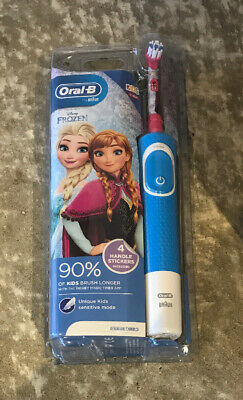 FROZEN Oral-B Power Electric Toothbrush for kids  PLUS 4 HANDLE STICKERS