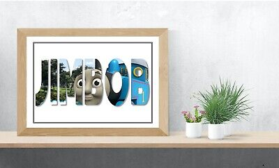 Thomas The Tankengine Personalised Name Wall Art Ideal Gift A4 Childrens Room