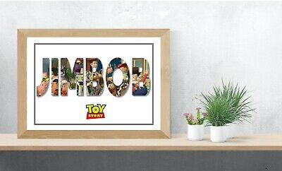Toy Story Personalised Name Wall Art Print Poster Ideal Gift A4 Childrens Room