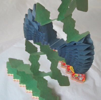 Pair Vintage Harley Quin Paper Chain Christmas Garlands