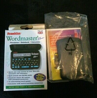Franklin WORDMASTER TPQ - 106 Thesaurus Databank Calculator Boxed With manual.