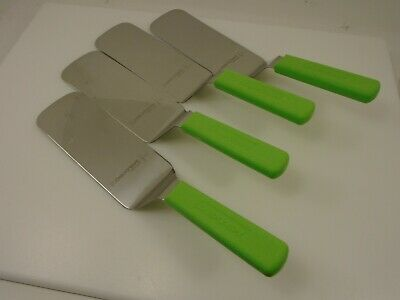 Dexter USA Lot (4) LtGreenHndles S286-8 Spatulas Turners 8x3 Blades Factory 2nd