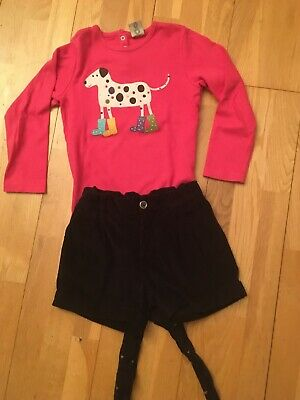 Benetton & Frugi shorts and top set age 7-8