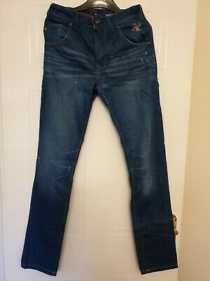 NEW NEXT girls blue jeans trousers size 13 years, 158cm, regulation in waist