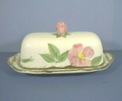 Covered Butter Dish, Desert Rose Pattern, Franciscan Ware China, California