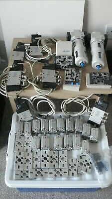 Festo Bundle Includes Valves, Filters, Etc  (28 Items See Pictures)