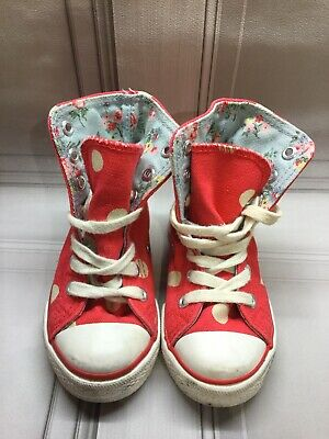Cath Kidston Kids Girls Infant Size 5 7 - Spotty Floral Trainer / Hi Top Boots