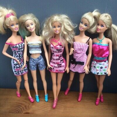 Bundle Of Barbie Dolls With Clothes And Shoes. All Geniune Barbie