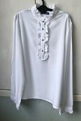 Original Marines Girls White Blouse Age 8-9 - purchased in Italy - beautiful