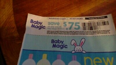 20 Coupons for Baby Magic expires 12/31/19 on any one product $.75 off