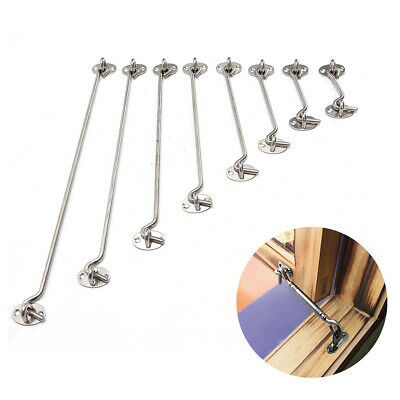 Stainless Steel Cabin Hook And Eye Latch Lock Shed Gate Door Catch Holder/_TI