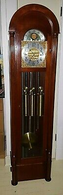 HERSCHEDE GRANDMOTHER CLOCK  W/ WESTMINSTER CHIMES, MODEL 436 C-1960s