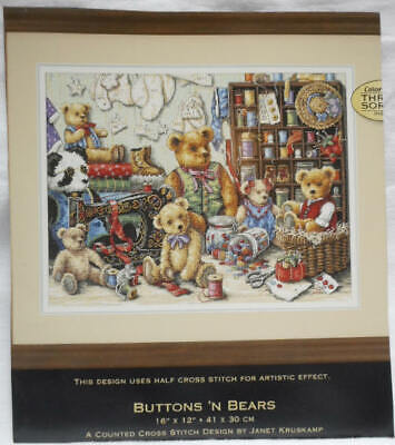 """""""Dimensions"""" Stickvorlage """"Buttons ´n Bears"""""""