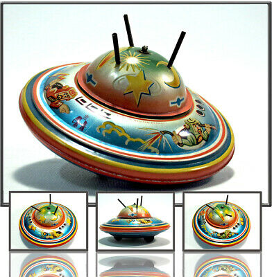 TOPTINTOY: FLYING SAUCER WITH SPINNING DOME,  B&S GERMANY, 1960s