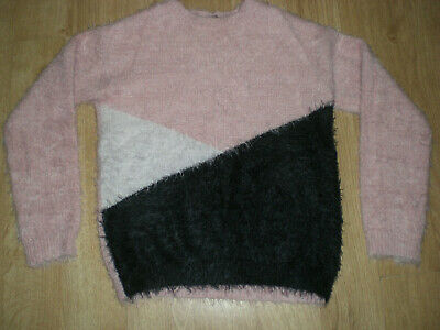 Girls Soft Fluffy, Pink Jumper, George, 9-10yrs