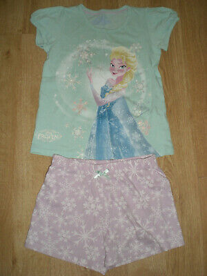 Girls 2-piece Frozen Pyjama Set (Shorts & T-Shirt), M&S, 6-7yrs