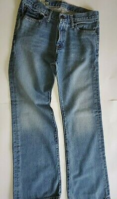 USED Boys Abercrombie Blue Jeans Regular Size 16 Low Rise Slim Boot