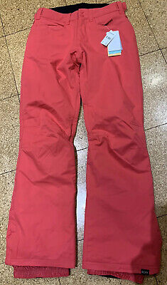 Ladies/girls Roxy Ski Salopettes Snow Trousers Size Small Brand New WT - Pink
