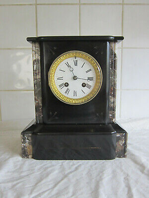 Wonderful Slate and Marble Chiming Temple Clock - Circa 1890