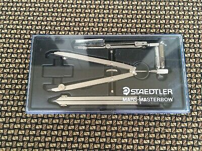 Vintage Staedtler Mars Masterbow Compass & Divider Drafting Set w/ Case Germany