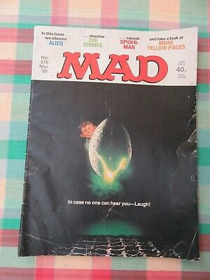 Mad Magazine number 215 Alien UK edition March 1980