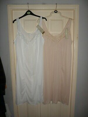 Ladies M&S X 2 full slip petticoat cling resistant laced size 18 BNWT Must see!!