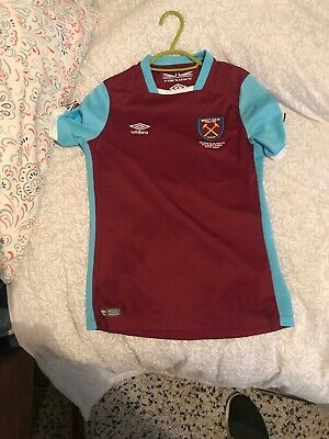 West Ham United Large Boys Home Kit Football shirt top Hammers