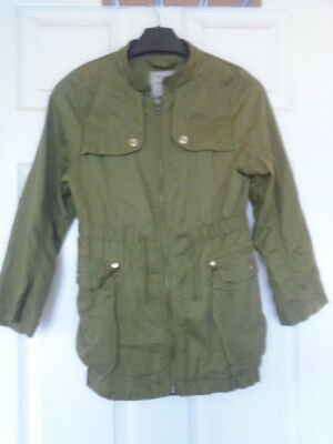 Beautiful Next Lightweight Khaki Jacket Size 8 Years Spring Summer Autumn VGC