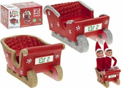 Elves Behavin Badly Double Elf Sleigh - One Supplied Xmas Decoration