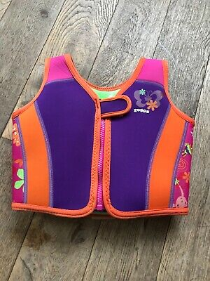 zoggs swim vest aged 2-3, purple