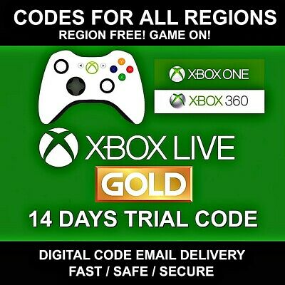 Xbox Live 14 Day Gold Trial Memberchip code (2 weeks) instant dispatch