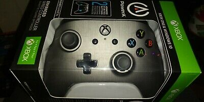 XBOX One Power A Brushed Gunmetal Enhanced Wired Controller