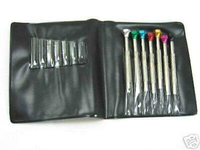 Screwdriver assortment of 7pcs.with extra Blades (Tips) for Watch Maker Jewelers