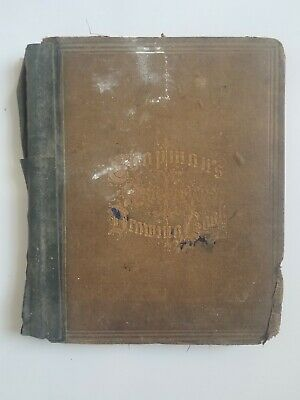 Antique Vintage 1800s american drawing book manual for the amateur J.G. Chapman
